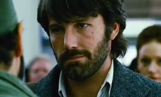 Affleck's measured beard and measured beard in the excellent Argo (courtesy of Warner Bros)