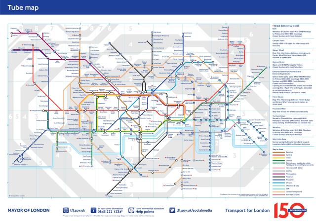 The Longon Underground - copyright Transport for London